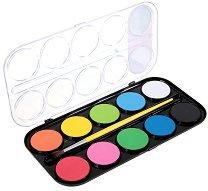 Акварелни бои - Палитра от 10 цвята с четка
