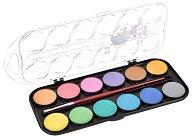 Акварелни бои с перлени цветове - Палитра от 12 цвята с четка