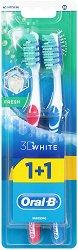 Oral-B 3D White Fresh - Medium - Избелваща четка за зъби 1 + 1 подарък - олио