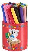 Цветни флумастери с моливник