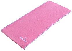"""Розова допълнителна хавлиена подложка - Аксесоар за бебешки повивалник """"Fluffy"""" -"""