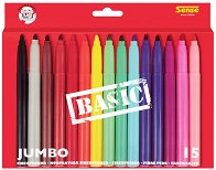 Цветни флумастери - Jumbo Basic - Комплект от 15 броя