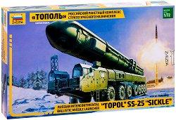 Руски стратегически ракетен комплекс - РТ-2ПМ Тополь - Сглобяем модел - продукт