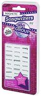 Напиши текст на песен - Girl Group - Комплект магнити с думи -