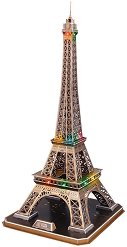 Айфеловата кула, Париж - Светещ 3D пъзел - пъзел