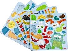 Нареди чудовищата - Детски творчески комплект с магнити - топка