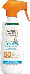 Garnier Ambre Solaire Kids Sensitive Advaned - SPF 50+ - Слънцезащитен спрей за деца за плуване - олио