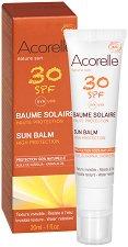 """Acorelle Nature Sun Balm - SPF 30 - Био слънцезащитен балсам за лице с масло от каранджа от серията """"Nature Sun"""" - крем"""