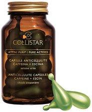 """Collistar Pure Actives Anticellulite Capsules - Капсули за шокова антицелулитна терапия с чисти съставки от серията """"Anticellulite Strategy"""" - продукт"""