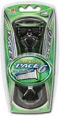 Dorco Pace 6 SXA 1000 - Мъжка самобръсначка с резервна глава с 6 ножчета -
