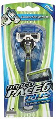 Самобръсначка с тример - Dorco Pace 6 Plus - С резервна глава с 6 ножчета - шампоан