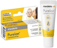 Крем за заздравяване на напукани зърна - Purelan 100 - Опаковки от 7 ÷ 37 g - душ гел