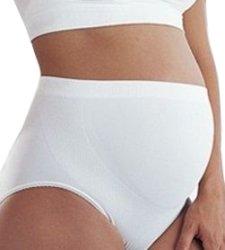 Бели поддържащи бикини за бременни -