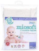 Пелени за многократна употреба - Miosoft Nappy - Комплект от 4 броя -