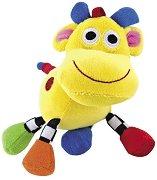 Жълта Кравичка - Бебешка дрънкалка за количка или легло -