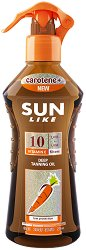 Sun Like Deep Tanning Oil Carotene+ - Слънцезащитно олио за тен с витамин E и бета-каротин - олио