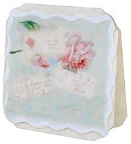Поздравителна картичка - Рози и писма -