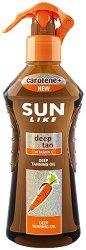 Sun Like Deep Tanning Oil Carotene+ - Олио за бърз тен с бета-каротин и витамин E - олио