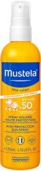 Mustela Very High Protection Sun Spray - SPF 50+ - Слънцезащитен спрей за бебета и деца -