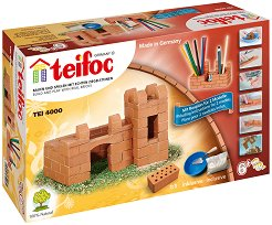 Крепост - моливник - Детски сглобяем модел от истински тухлички - макет