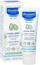Mustela Hydra Bebe Facial Cream - Хидратиращ крем за лице за бебета и деца - крем