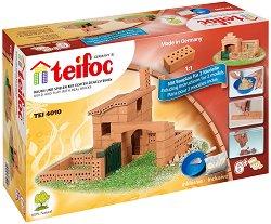 Къща с ограда - Детски сглобяем модел от истински тухлички -