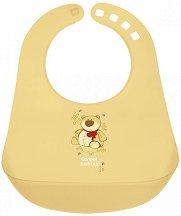 Жълт бебешки лигавник с PVC джоб - За бебета над 12 месеца -