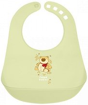 Зелен бебешки лигавник с PVC джоб - За бебета над 12 месеца -