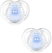 """Залъгалки от силикон с ортодонтична форма - Any Time: Blue - Комплект от 2 броя от серия """"Closer to Nature"""" за бебета от 0 до 6 месеца -"""