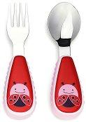 """Метални прибори за хранене - Калинка - Комплект от вилица и лъжица от серията """"Zoo"""" -"""