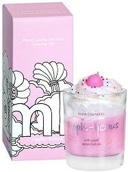 Bomb Cosmetics Ripple-Licious Piped Glass Candle - Свещ в стъклена чаша с масло от мандарина и бергамот -