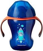 """Неразливаща се чаша с мек накрайник и дръжки - Easy drink Cup 230 ml - От серия """"Explora"""" за бебета над 6 месеца -"""