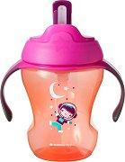 """Неразливаща се чаша със сламка и дръжки - Easy Drink 230 ml - За бебета над 6 месеца от серията """"Explora"""" - продукт"""