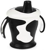 Черна неразливаща се чаша с твърд накрайник - 250 ml - За бебета над 12 месеца - продукт