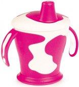 Розова неразливаща се чаша с твърд накрайник - 250 ml - За бебета над 12 месеца - чаша