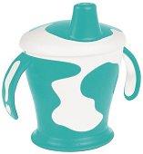 Тюркоазена неразливаща се чаша с твърд накрайник - 250 ml - За бебета над 12 месеца - чаша