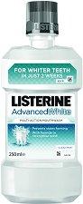 Listerine Advanced White - Вода за уста с избелващ ефект - продукт