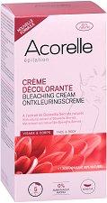 Acorelle Bleaching Cream - Двукомпонентен крем за изсветляване на окосмяването по лицето и тялото - фон дьо тен