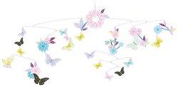 Висяща декорация за детска стая - Пеперуди - Детски аксесоар - творчески комплект