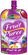 Забавна плодова закуска - Ябълки, круши, сливи и вишни - Опаковка от 120 g за деца над 3 години - продукт
