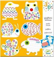 Картинки за оцветяване - Животни - Творчески комплект за рисуване -