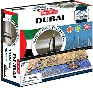 """Дубай, Обединени арабски емирства - 4D пъзел от серията """"Cityscape - History Over Time"""" -"""