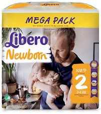 Libero - Newborn 2 - Пелени за еднократна употреба за бебета с тегло от 3 до 6 kg - продукт