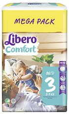 Libero - Comfort 3 - Пелени за еднократна употреба за бебета с тегло от 5 до 9 kg -