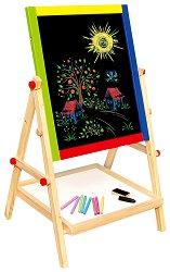 Двустранна дъска за рисуване с магнитна част - Образователна играчка -