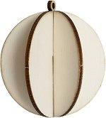 Сглобяема фигурка от шперплат - Коледна топка - Предмет за декориране с размери 6.7 x 7.4 cm