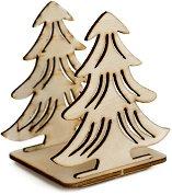 Сглобяема фигурка от шперплат - Двойна елха - Предмет за декориране с размери 7.5 / 8.6 / 6.5 cm