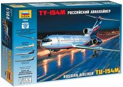 Руски пътнически самолет - Ту-154M - Сглобяем авиомодел - макет