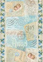 Декупажна хартия - Angel Postcards 009 - Формат А4