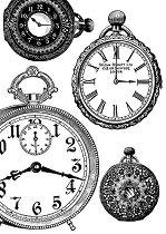 Декупажна хартия - Часовници 127 - Формат А4